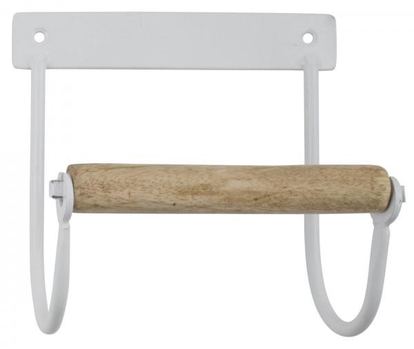 Ib Laursen Toilettenpapierhalter weiß Holzrolle