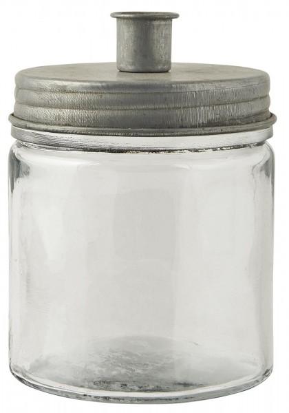 Ib Laursen Kerzenhalter Stabkerze Metalldeckel Glas