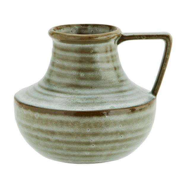 Madam Stoltz Vase mit Henkel Steingut 18x16 cm
