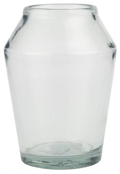 IB Laursen Vase konisch Glas mundgeblasen groß