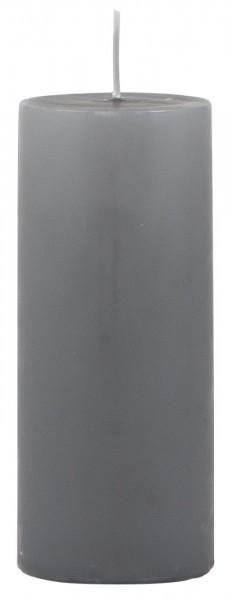 IB Laursen Stumpenkerze dunkelgrau Ø 6 cm groß