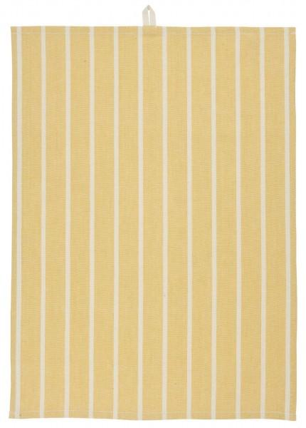 Ib Laursen Geschirrtuch gelb mit hellen Streifen