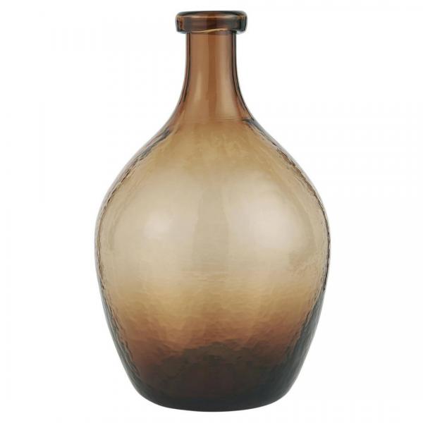Ib Laursen Glasballon braunes Glas mundgeblasen Ø 17 cm