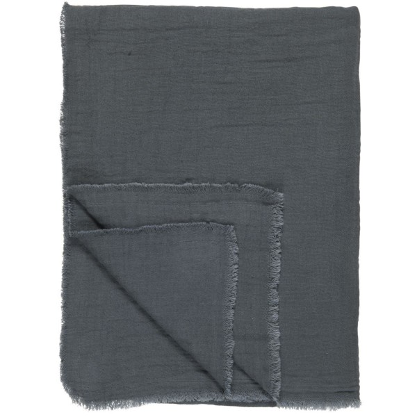 IB Laursen Plaid doppelt gewebt historical blue130x160 cm