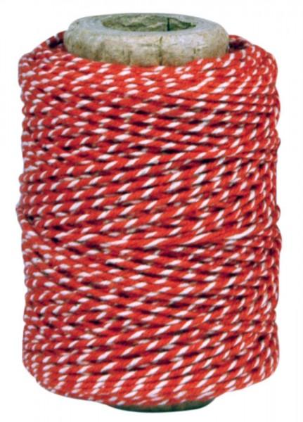 IB Laursen Garn Baumwolle rot weiß 50 m