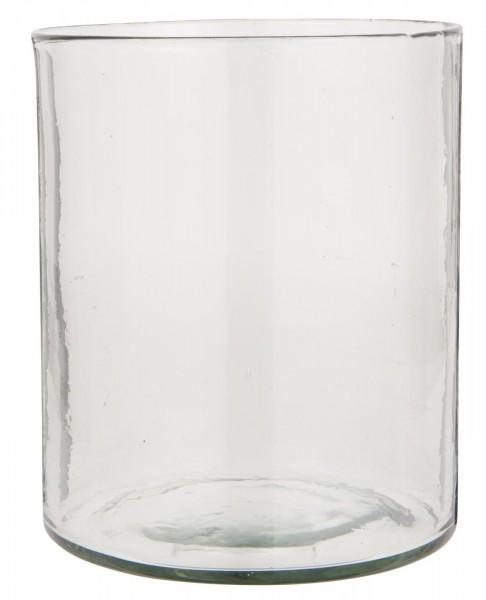 Ib Laursen Dekoglas Vase dickes Glas mundgeblasen Ø 19,5 cm