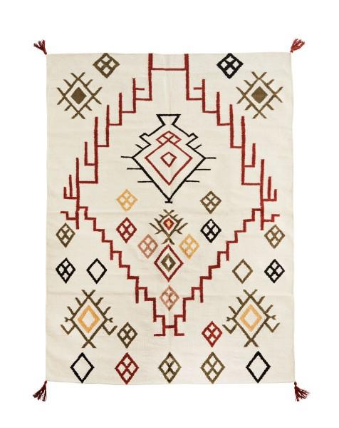 Madam Stoltz handgewebter Teppich 120x180 cm Baumwolle