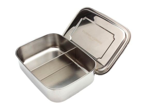 Essensbox Medium No. 2 essen sandwich salat haltbar edelstahl box bento box dänemark 2 fächer