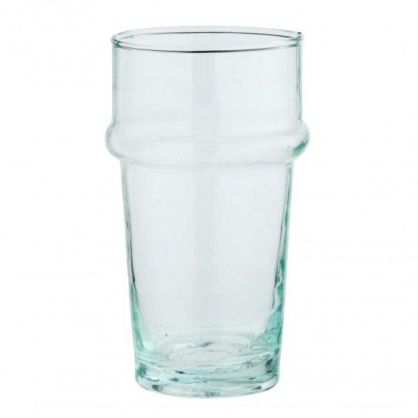 Madam Stoltz Trinkglas Beldi Recycling Glas klar 11,5 cm