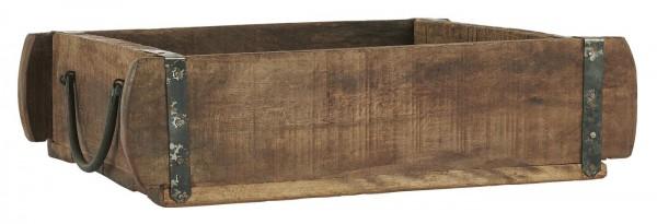 Ib Laursen Ziegelform Holzkiste mit Metallbeschlag UNIKA 30 cm