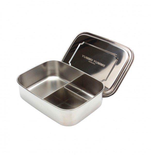 Essensbox Medium No. 3 essen sandwich salat haltbar edelstahl box  bento box dänisch dänemark 3 fächer