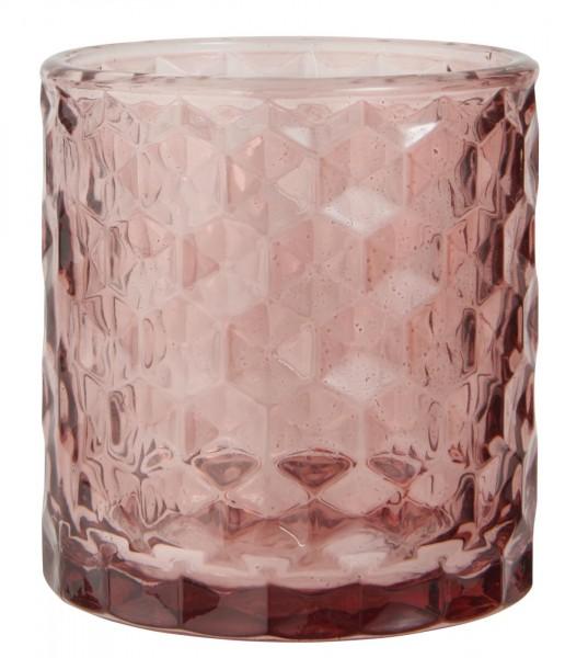 Ib Laursen Teelicht Glas rosa
