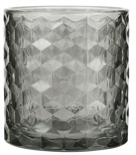Ib Laursen Teelicht Glas grau