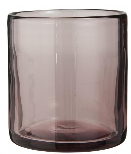 IB Laursen Teelicht rosa Glas mundgeblasen Milieu