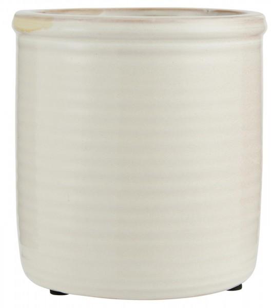 IB Laursen Topf Keramik glasiert weiß