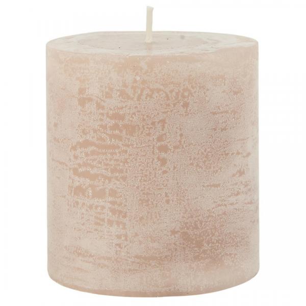 Ib Laursen rustikale Kerze rosa 7,5 cm