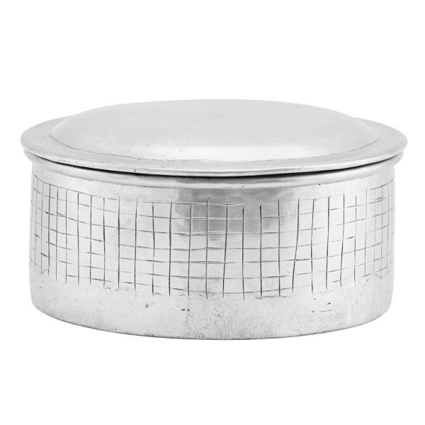 House Doctor Vorratsdosen mit Deckel 14x9 cm Noova Aluminium Silber