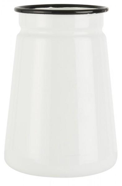 IB Laursen Vase Emaille weiß Ø11cm H15 cm