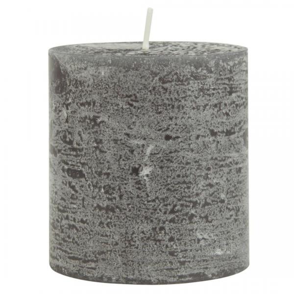 Ib Laursen rustikale Kerze dunkelgrau 7,5 cm