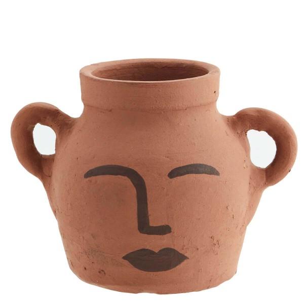 Madam Stoltz Vase Gesicht aus Lehm