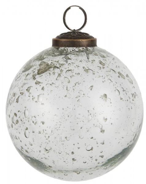 Ib Laursen Weihnachtskugeln Ø 10 cm Kieselglas klar