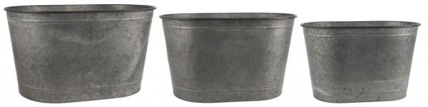 Ib Laursen Pflanzenkübel Set ohne Henkel Metall