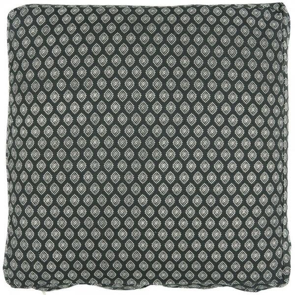 IB Laursen Boxkissenbezug schwarz Muster 45x45 cm