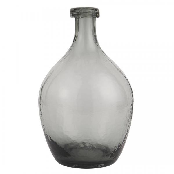 Ib Laursen Glasballon mundgeblasen grau Ø 17 cm