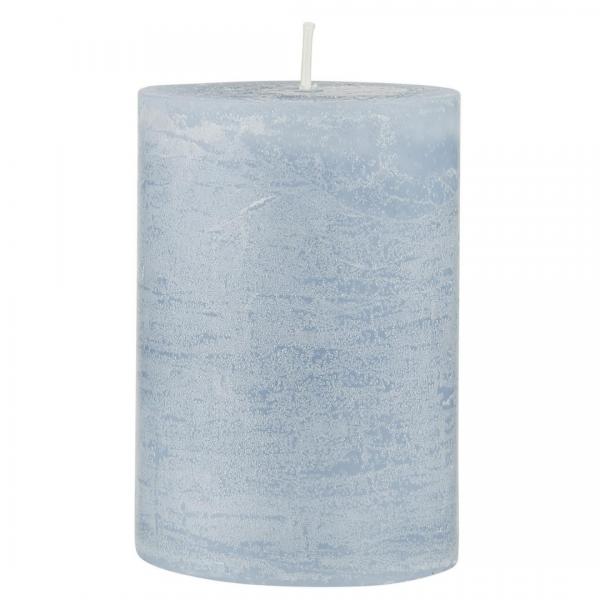 Ib Laursen rustikale Kerze hellblau 10 cm