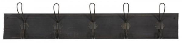 IB Laursen Hakenleiste mit 5 Haken Holz Metall schwarz