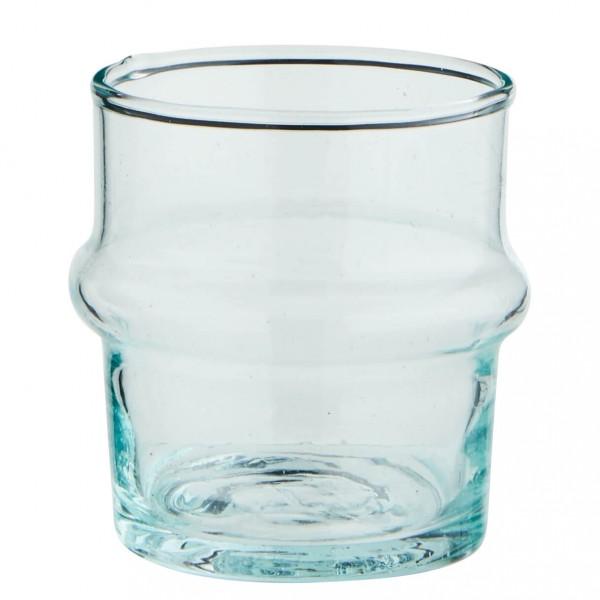 Madam Stoltz Shot Glas Beldi Recycling Glas klar 6 cm