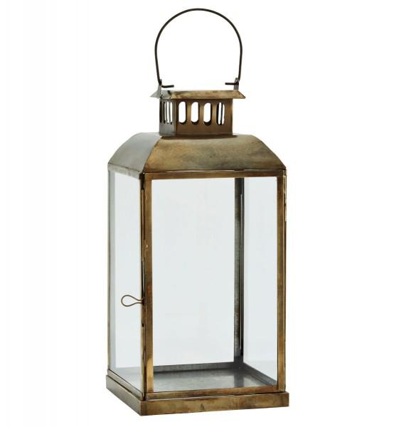 Madam Stoltz Laterne Messing Glas 36 cm