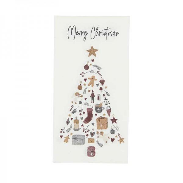"""IB Laursen Weihnachten Servietten Papier """"Merry Christmas"""" 16 Stück"""