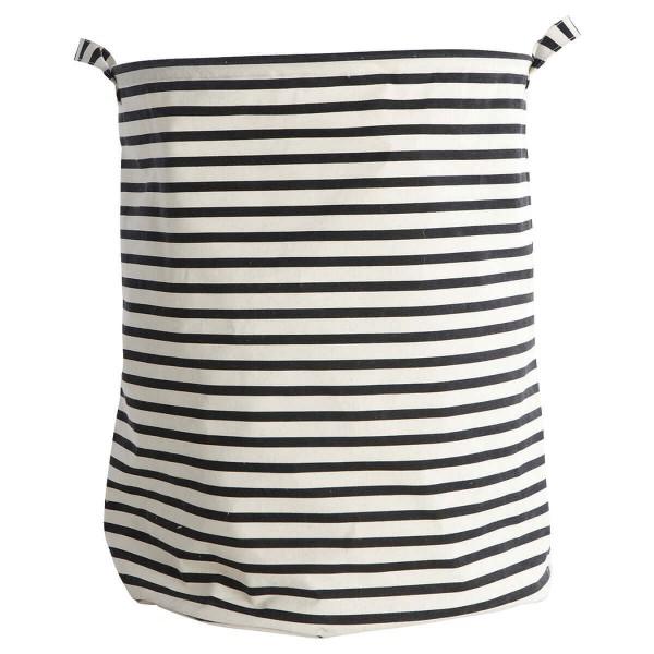 House Doctor Wäschesack Stripes schwarz weiß