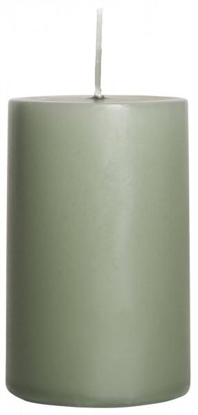 IB Laursen Stumpenkerze moosgrün Ø 6 cm