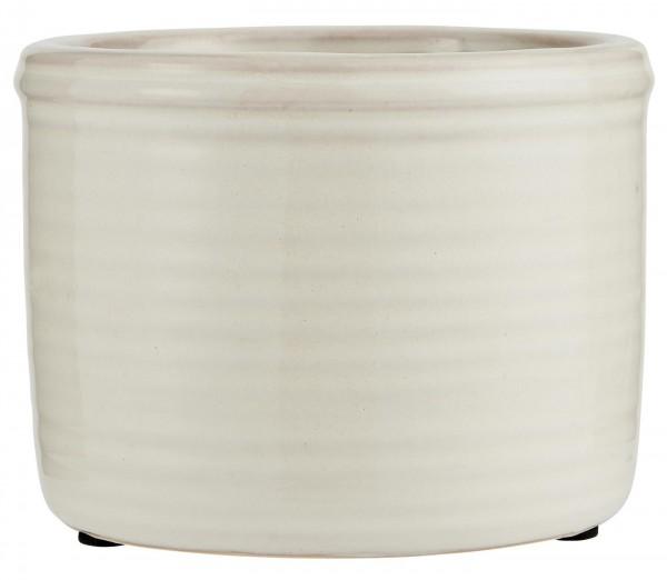 IB Laursen Topf Keramik glasiert weiß klein