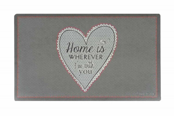 fussmatte herz spruch home is wherever im with you