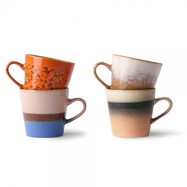 HK Living 70's Keramik Tassen Set Americano