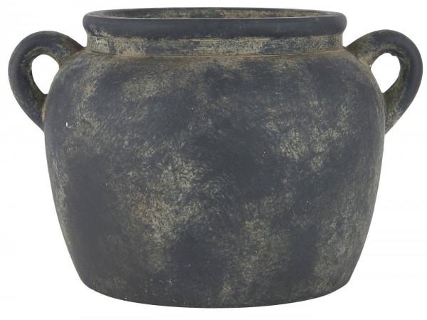 Ib Laursen Übertopf mit Henkel Athen Keramik