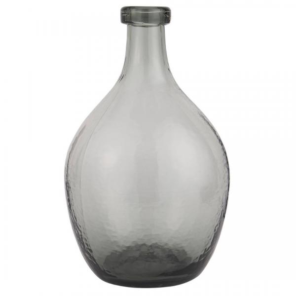 Ib Laursen Glasballon mundgeblasen grau Ø 20 cm