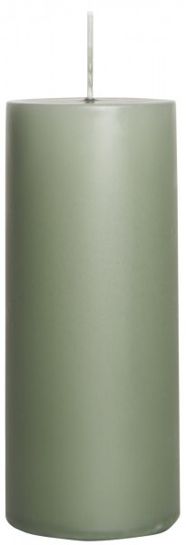 IB Laursen Stumpenkerze moosgrün Ø 6 cm groß