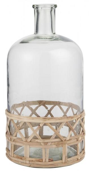 Ib Laursen Glasflasche mit Bambus Öffnung Ø:2,5 cm