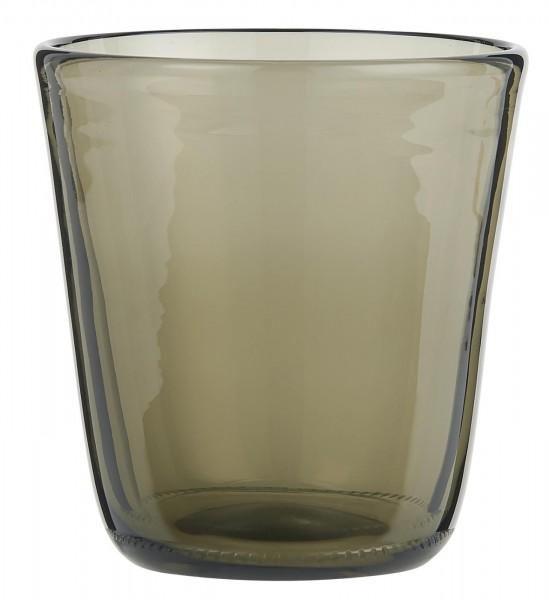 IB Laursen Trinkglas smoke grün