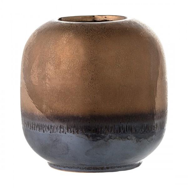 Bloomingville kleine Vase bronze glasiert Steingut