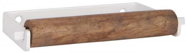 Ib Laursen ALTUM Toilettenpapierhalter Metall Holz weiß