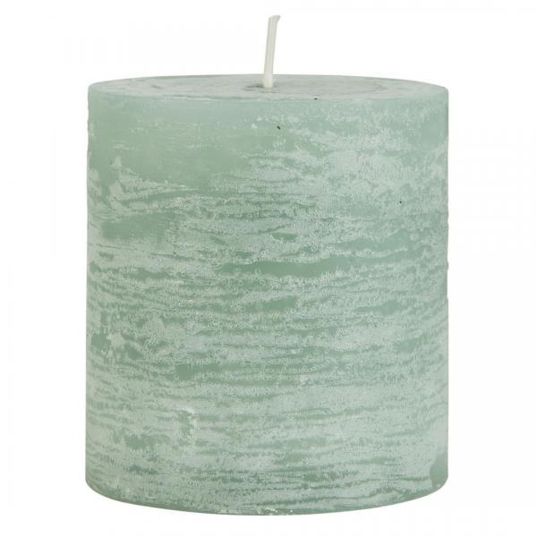 Ib Laursen rustikale Kerze grün 7,5 cm