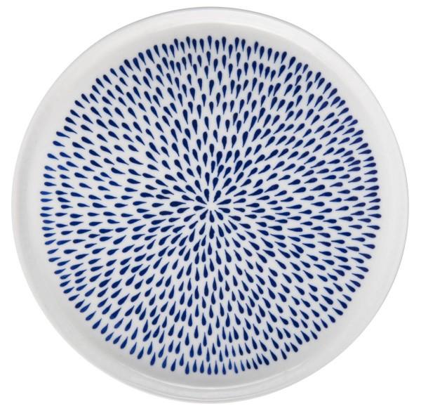 """IB Laursen Frühstücksteller """"Delicate Blue"""" in blau-weiß aus Porzellan"""