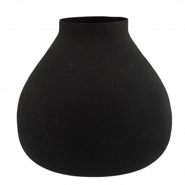 Madam Stoltz Vase Metall matt schwarz