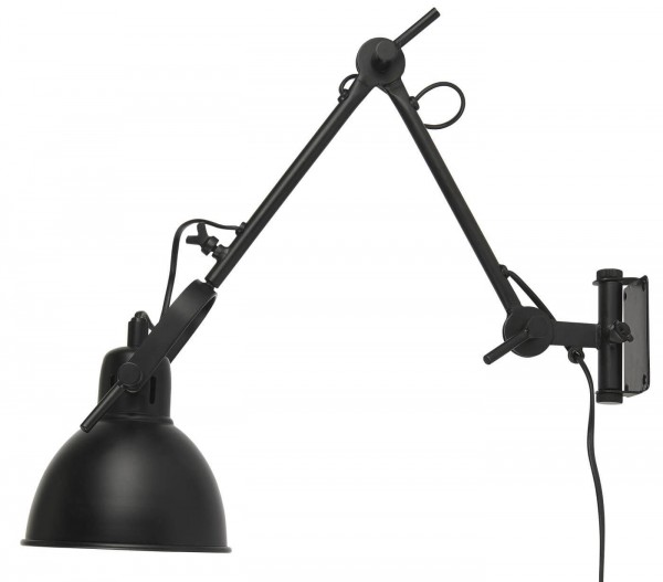 Ib Laursen Lampe 2-Armig beweglich schwarz