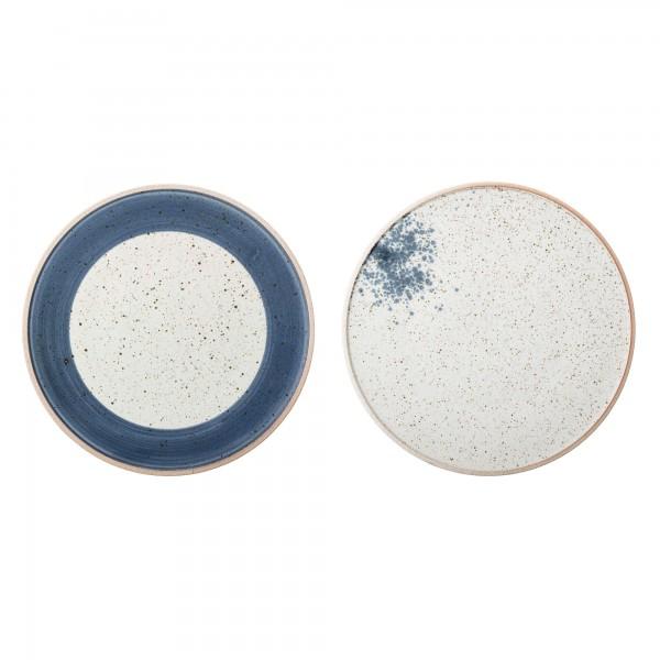 Bloomingville Hazel Tellerset blau natur Steingut 29 cm